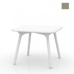 Table Sloo 90, Vondom taupe 90x90x72 cm