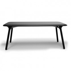 Table Sloo 180, Vondom noir 180x90x72 cm