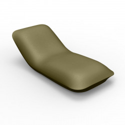 Chaise longue Pillow, Vondom kaki Mat