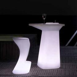 Tabouret de bar lumineux Moma High, hauteur d\'assise 74 cm, Vondom