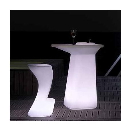 Tabouret de bar lumineux Moma High, hauteur d'assise 74 cm, Vondom