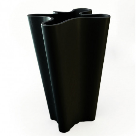 Pot Bye Bye, Vondom noir Hauteur 100 cm