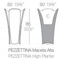 Pot design Pezzettina, Vondom anthracite 50x50xH85 cm