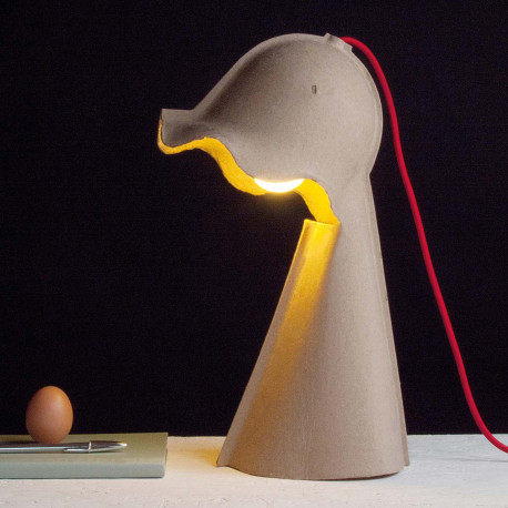 Lampe à poser Egg of columbus, Seletti carton