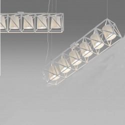 Suspension Line multilamp, Seletti blanc