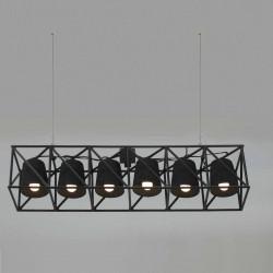 Suspension Line multilamp, Seletti noir