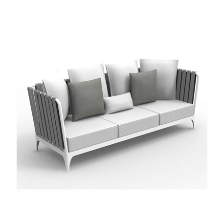 Sofa Stripe, Talenti blanc et gris