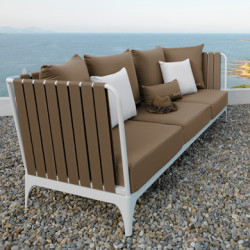 Sofa Stripe, Talenti blanc et taupe