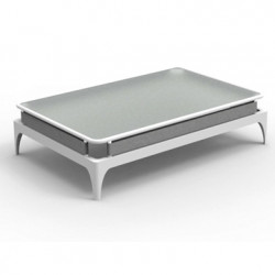 Table basse Stripe, Talenti blanc et gris