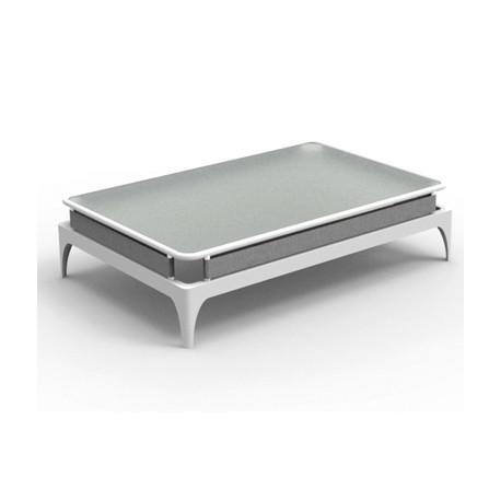Table basse Stripe, Talenti blanc et gris