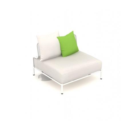 Module droit de canapé Bend, Talenti blanc