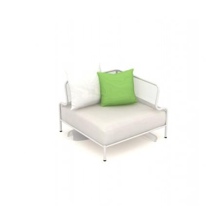 Module d'angle de canapé Bend, Talenti blanc