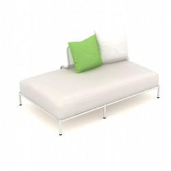 Module droit de canapé XL Bend, Talenti blanc