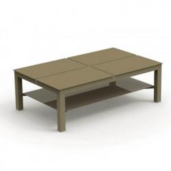 Table basse avec plateaux Chic, Talenti taupe