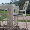 Table extensible Spider, Talenti osier blanc