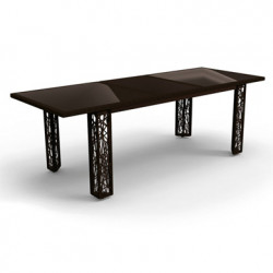 Table extensible spider talenti osier noir cerise sur for Table extensible canada