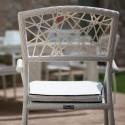 Chaise avec accoudoirs Spider, Talenti osier blanc