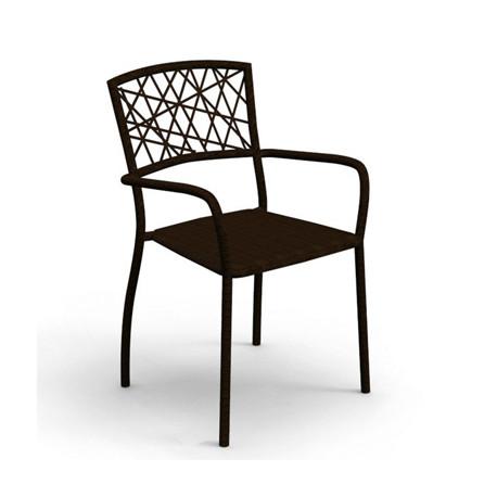 Chaise avec accoudoirs Spider, Talenti osier noir