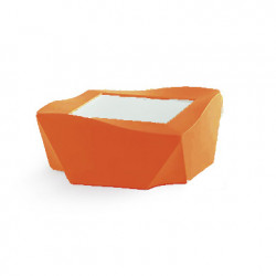 Table basse Kami Ni, Slide Design orange Mat