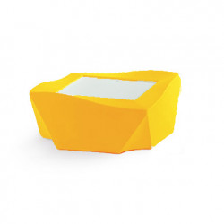 Table basse Kami Ni, Slide Design jaune Mat