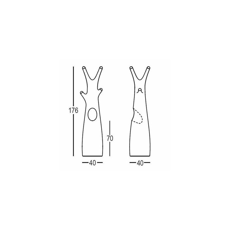 Porte manteau arbre design godot plust collection blanc embouts noirs mat - Porte manteau arbre design ...