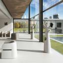 Porte-manteau arbre design Godot, Plust Collection gris, embouts rouge Mat