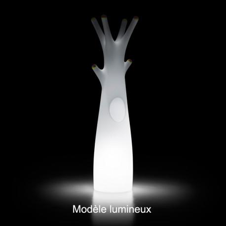 Porte-manteau arbre design Godot, Plust Collection blanc, embouts blancs Lumineux à ampoule