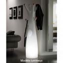 Porte-manteau arbre design Godot, Plust Collection blanc, embouts noirs Laqué