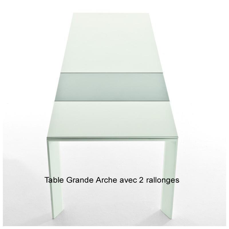 table grande arche avec rallonges fast gris m tal longueur 160 210 cm cerise sur la deco. Black Bedroom Furniture Sets. Home Design Ideas