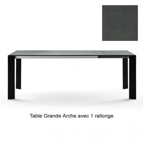 table grande arche avec rallonges fast gris m tal longueur 220 270 cm cerise sur la deco. Black Bedroom Furniture Sets. Home Design Ideas