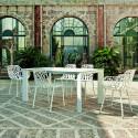 Table Grande Arche avec 2 rallonges, Fast blanc Longueur 220/320 cm