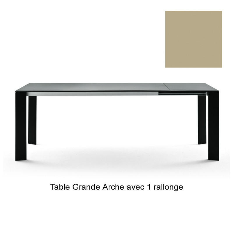 table grande arche avec 2 rallonges fast or perl longueur 220 320 cm cerise sur la deco. Black Bedroom Furniture Sets. Home Design Ideas