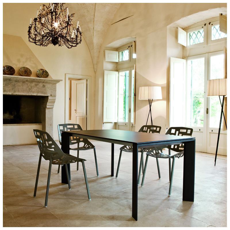 table grande arche avec rallonges fast or perl longueur 220 320 cm cerise sur la deco. Black Bedroom Furniture Sets. Home Design Ideas