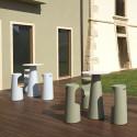 Mange debout design Fura rond, Plust Collection base blanche, plateau blanc diamètre 60 cm