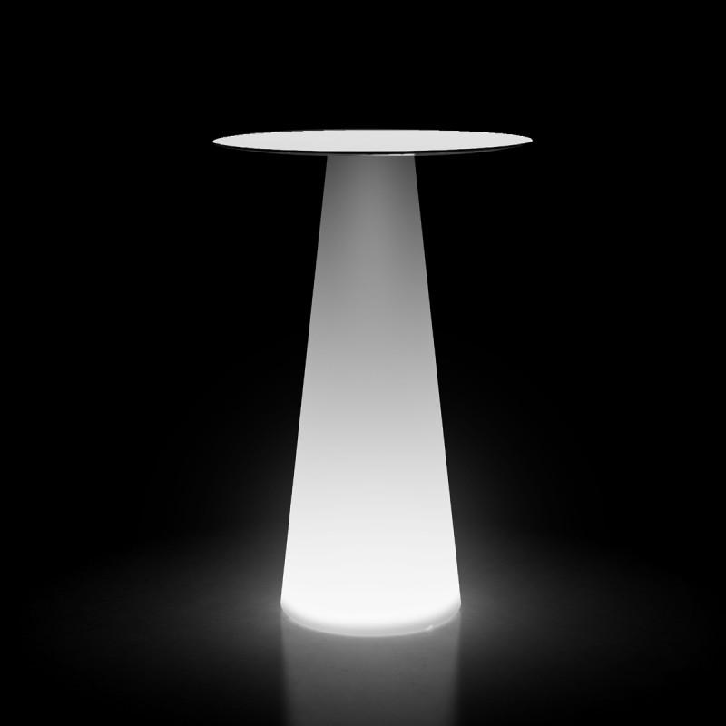 mange debout design fura rond plust collection base lumineuse plateau blanc cerise sur la deco. Black Bedroom Furniture Sets. Home Design Ideas