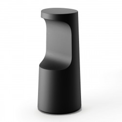 Tabouret haut design Fura, Plust Collection noir perlé