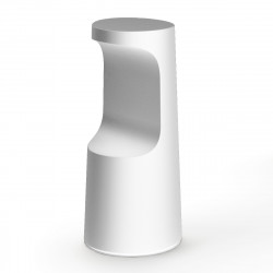 Tabouret haut design Fura, Plust Collection blanc