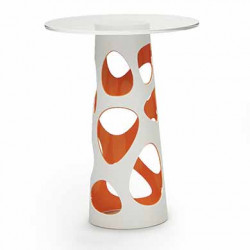 Table mange debout Liberty XL, MyYour orange Diamètre 90 cm