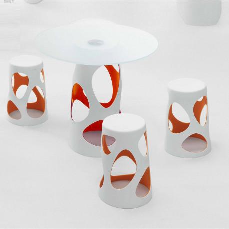 Table Liberty L, MyYour orange Diamètre 90 cm