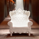 Fauteuil Trône Queen of Love, Design of Love by Slide blanc