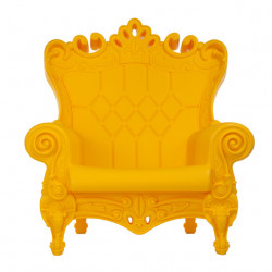 Fauteuil design Queen of Love, Design of Love by Slide jaune