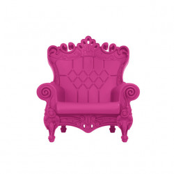 Fauteuil design Little Queen of Love, Design of Love by Slide rose fuchsia