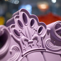 Fauteuil design Little Queen of Love, Design of Love by Slide rose fuchsia