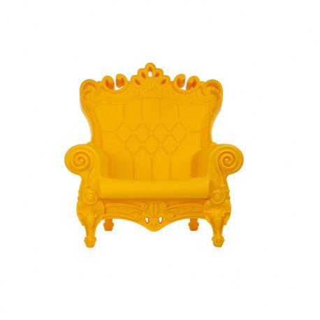 Fauteuil design Little Queen of Love, Design of Love by Slide jaune
