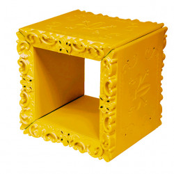 Cube-étagère design Joker of Love, Design of Love by Slide jaune