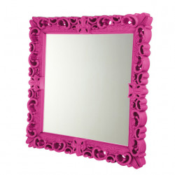 Miroir design Mirror of Love, Design of Love by Slide rose fuchsia