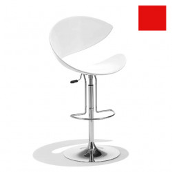 Tabouret design Twist, Midj rouge