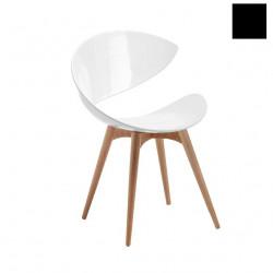 Chaise design Twist pieds bois, Midj noir
