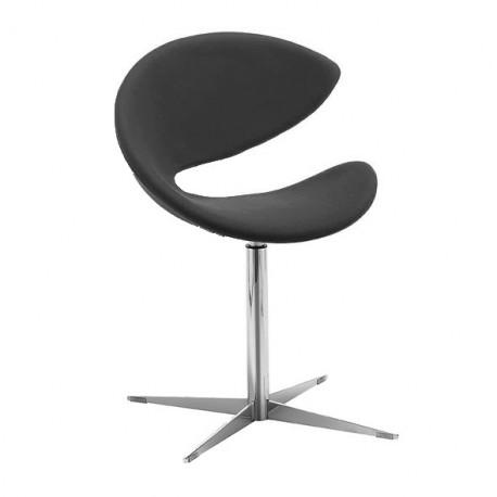 Chaise Design Twist Pieds Croix Midj Noir