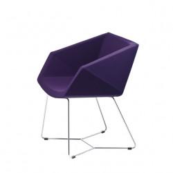 Chaise design Xonia pieds chromés, Midj violet